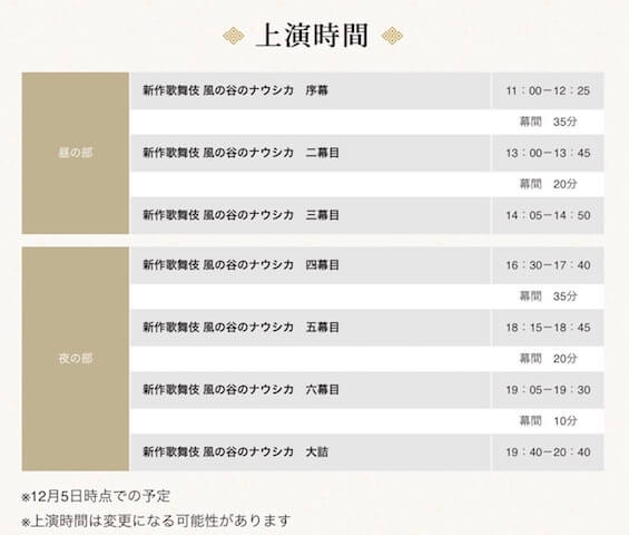 伎 映画 歌舞 館 ナウシカ 新作歌舞伎「風の谷のナウシカ」事前解説付き鑑賞会